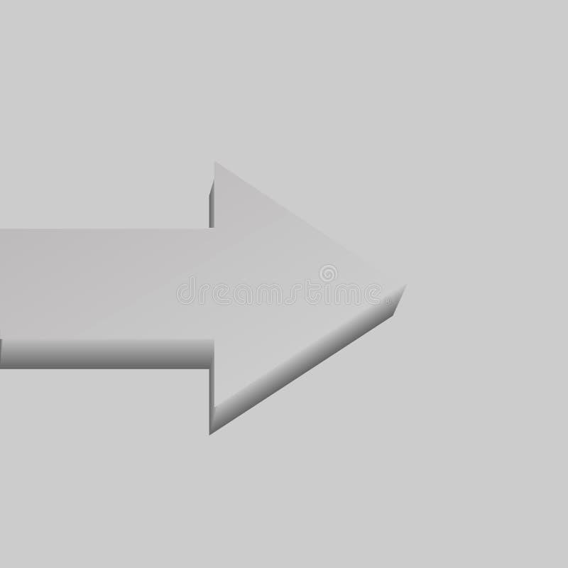 Серая одиночная плоск-лежа стрелка вектора бесплатная иллюстрация