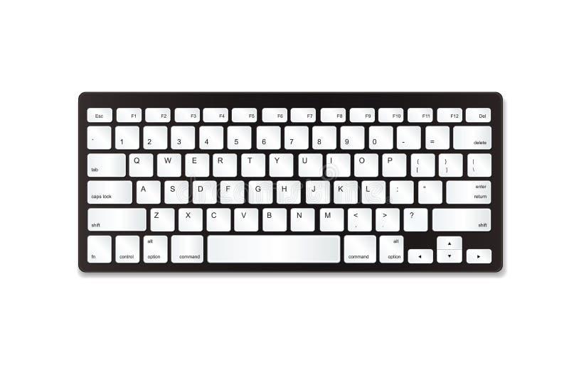 Серая пластичная клавиатура с белыми кнопками стоковая фотография