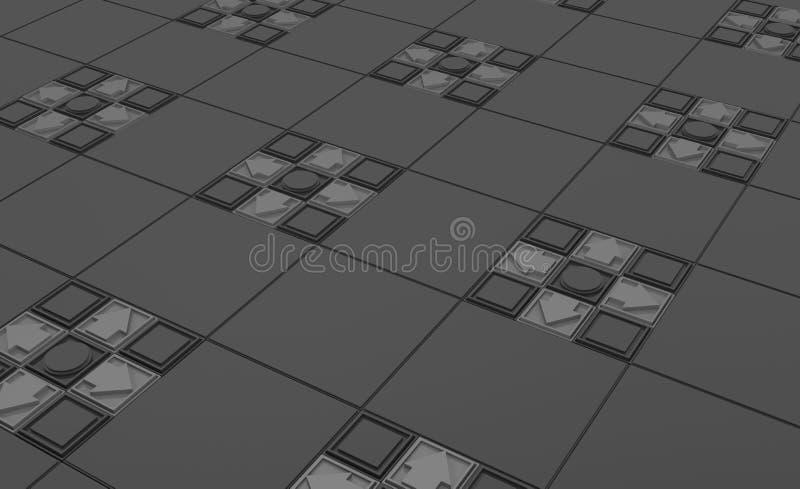 Серая поверхность кнопки иллюстрация штока