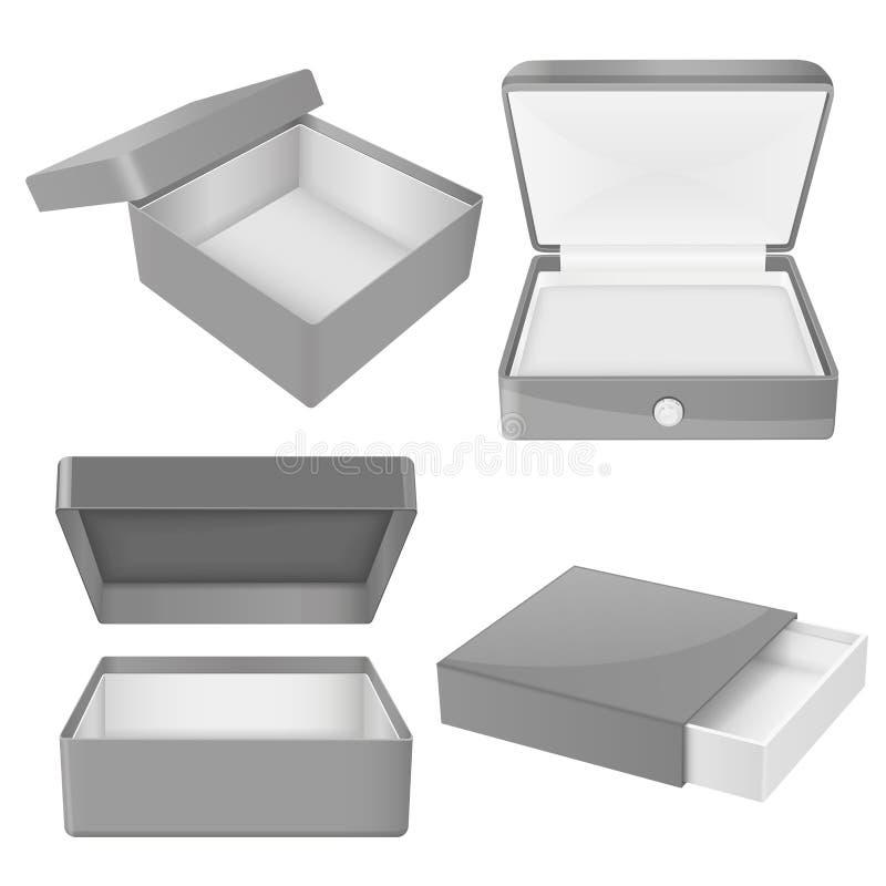 Серая подарочная коробка Установите различных коробок o бесплатная иллюстрация