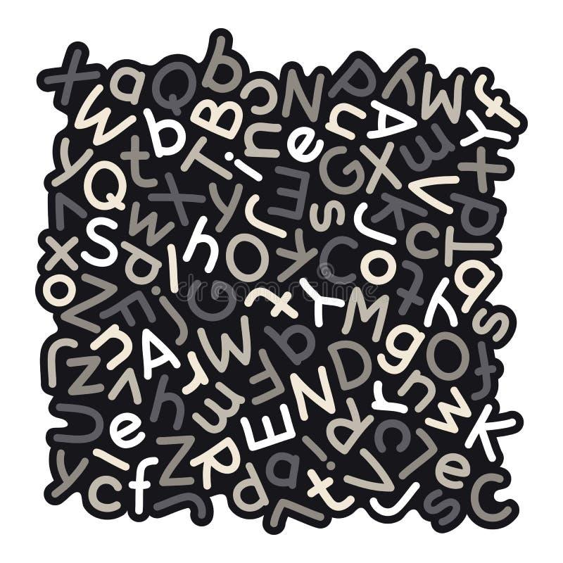 Серая смешанная предпосылка алфавита бесплатная иллюстрация