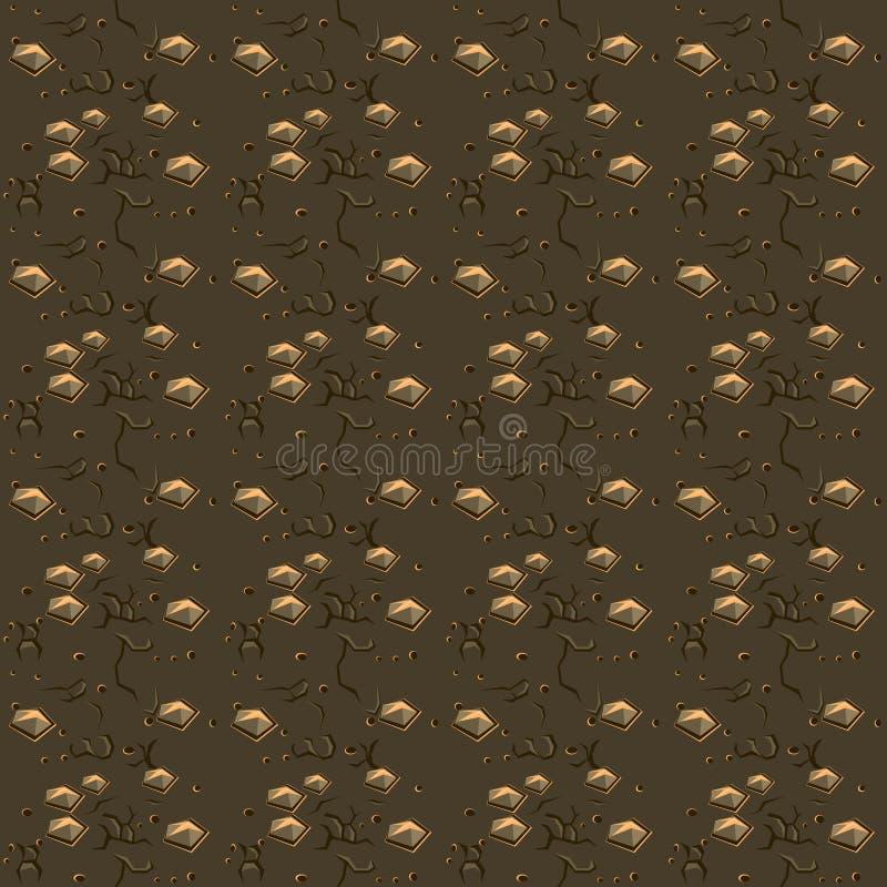 Серая текстура камня и почвы, предпосылка вектора бесплатная иллюстрация