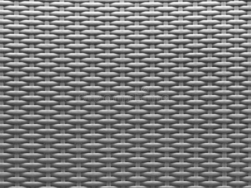 Серая текстурированная предпосылка современного пластикового basketry wickerwork стоковая фотография rf