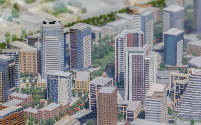 Сербия; Белград; 24-ое марта 2018; Миниатюрная модель зданий; стоковое изображение rf