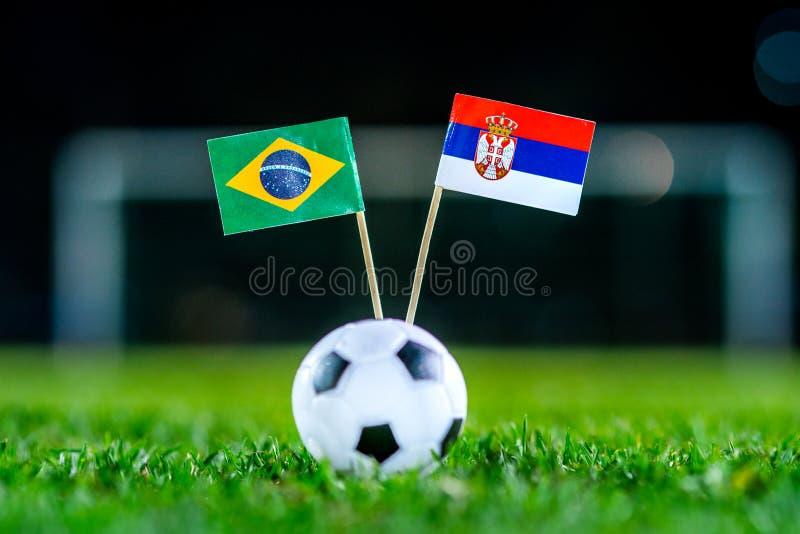 Сербия - Бразилия, группа e, Wednesday, 27 Футбол -го июнь, мир c стоковое фото rf