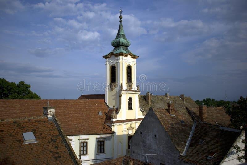 Сербская православная церков церковь, Szentendre, Венгрия стоковая фотография