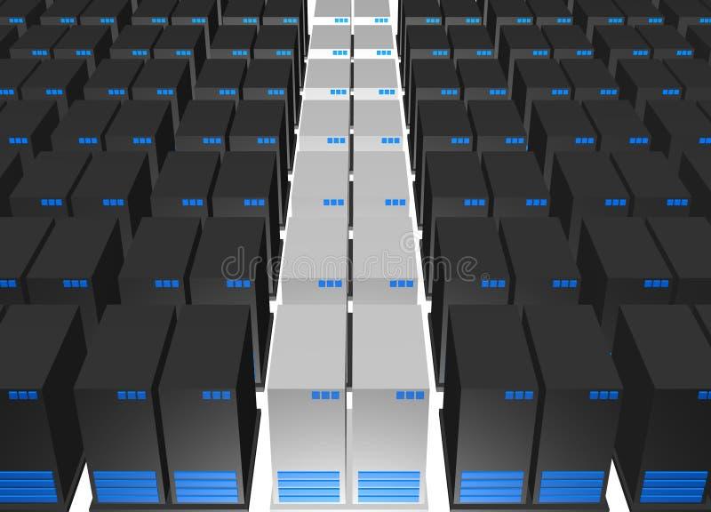 серверы компании webhosting иллюстрация вектора
