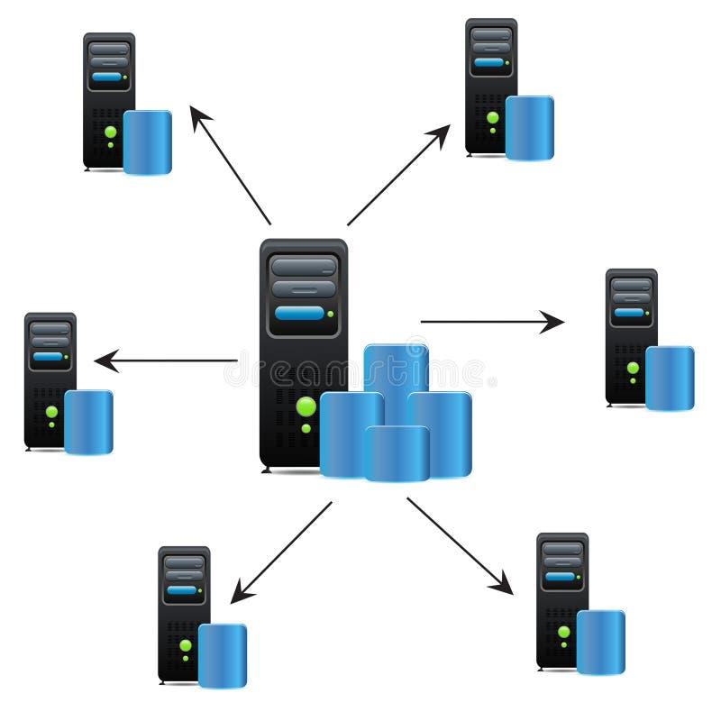 серверы иллюстрация вектора