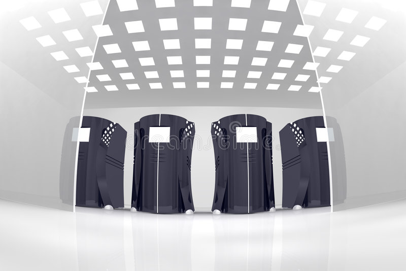 сервер комнаты иллюстрация штока