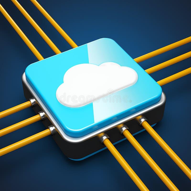 Сервер облака иллюстрация вектора