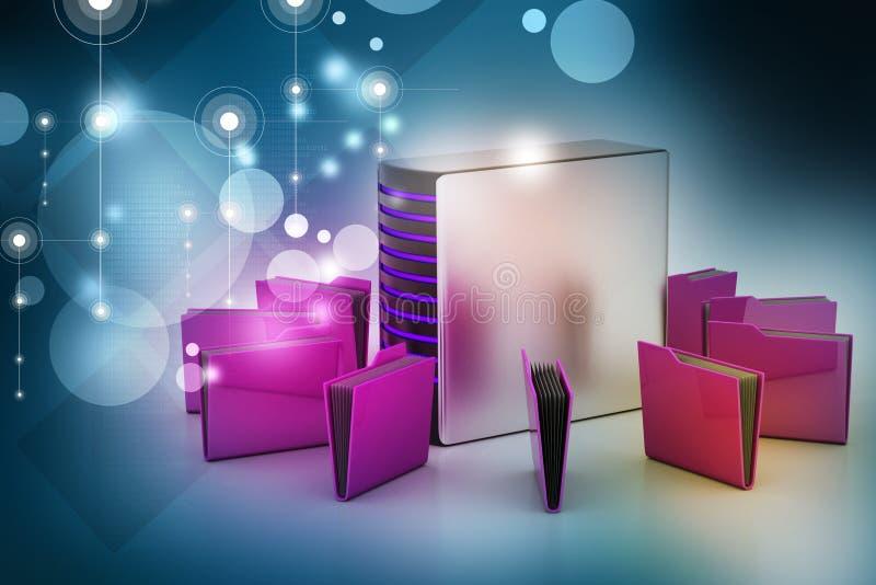 Сервер с папкой файла бесплатная иллюстрация