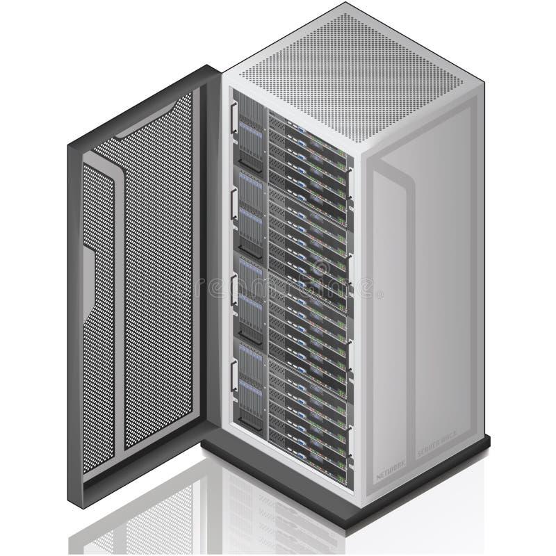 сервер шкафа сети бесплатная иллюстрация