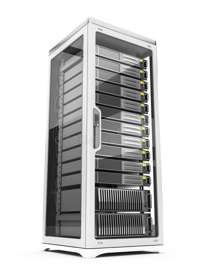 сервер шкафа иллюстрация вектора