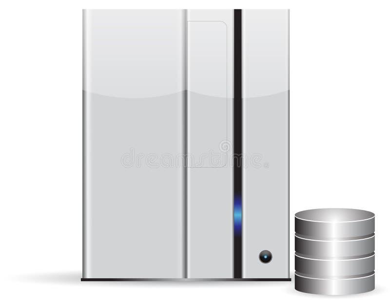 сервер minimalist базы данных стоковая фотография