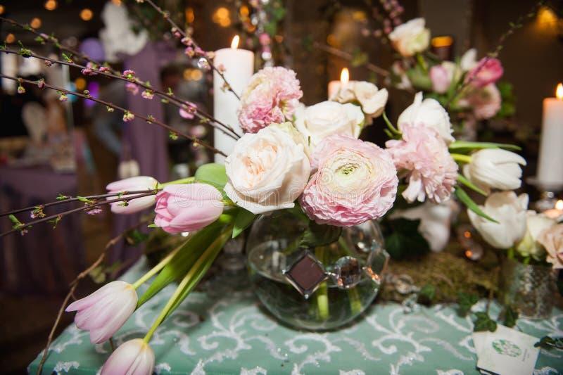 Сервировка стола для wedding или события стоковая фотография rf
