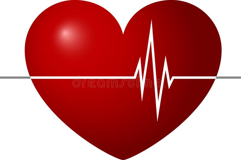 Palpitation, Heart palpitation, Hospital, clinic, heartbeat Healthcare and Medical Sign and Symbol. Vector illustration royalty free stock image