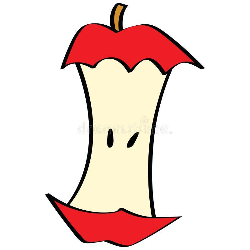сердечник яблока иллюстрация вектора