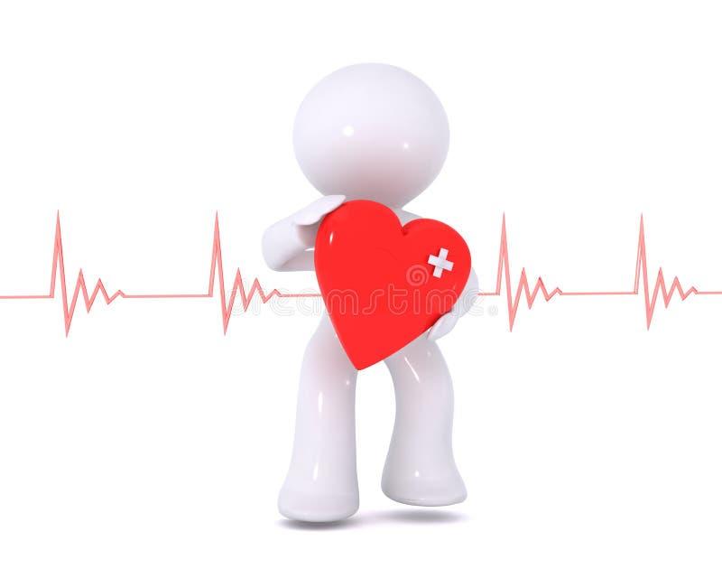 сердечное здоровье иллюстрация вектора
