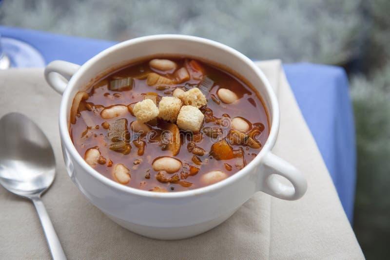 Download сердечный суп стоковое изображение. изображение насчитывающей beanie - 18397905