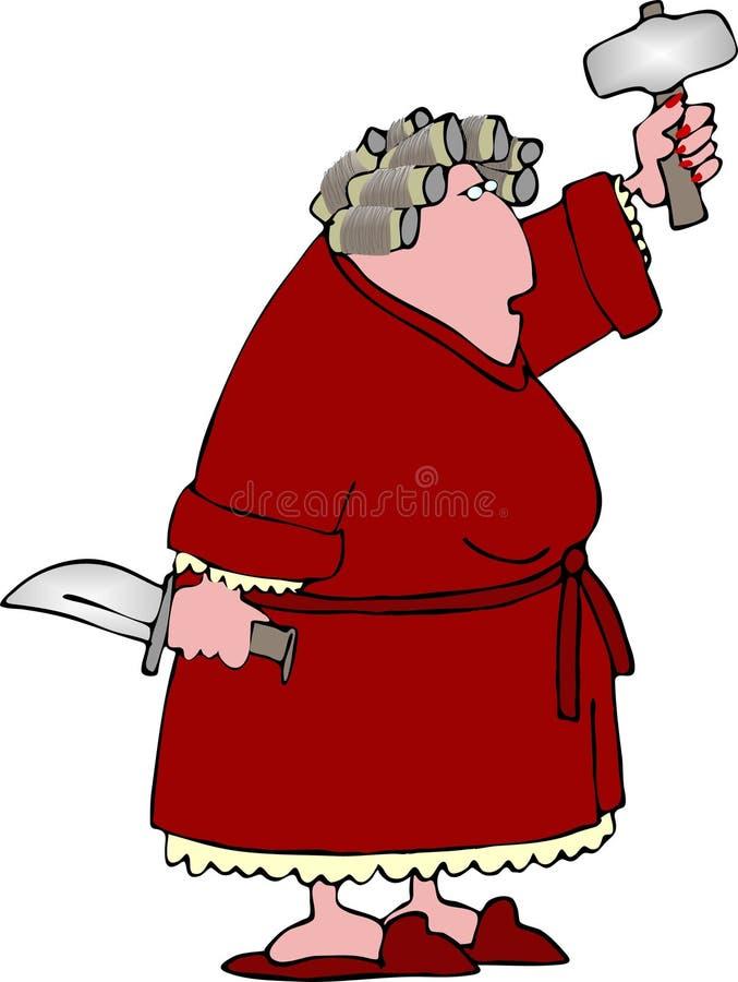 сердитая женщина 2 иллюстрация вектора