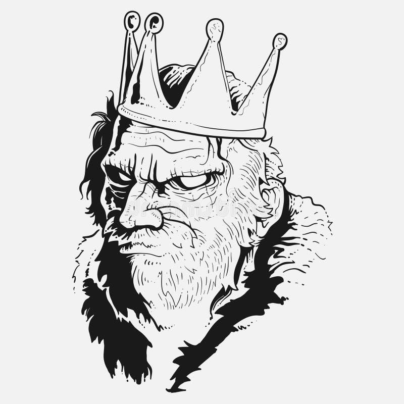 Сердитая иллюстрация короля иллюстрация штока