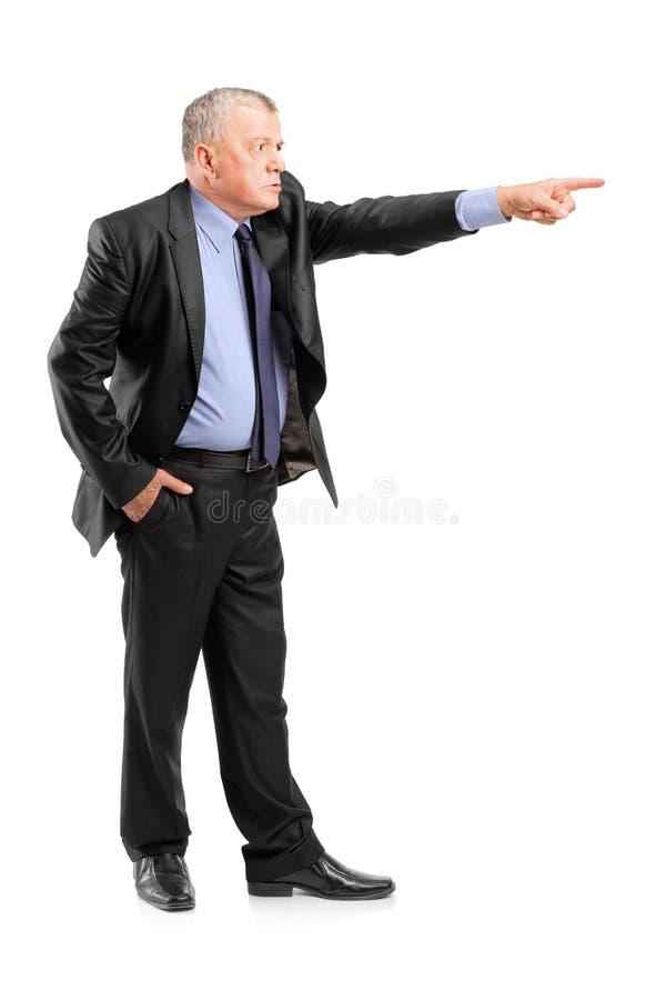 сердитое включение работника босса стоковая фотография