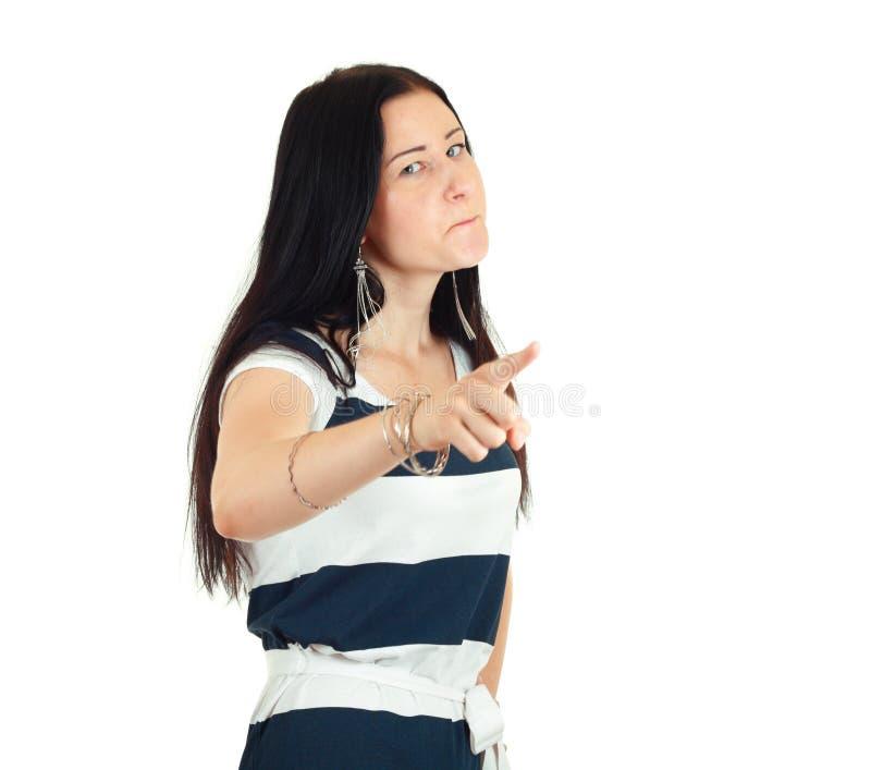 сердито угрожайте женщины стоковая фотография