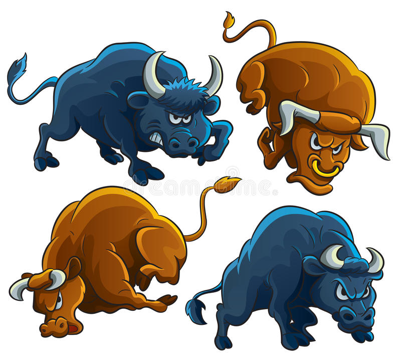 сердитые быки бесплатная иллюстрация