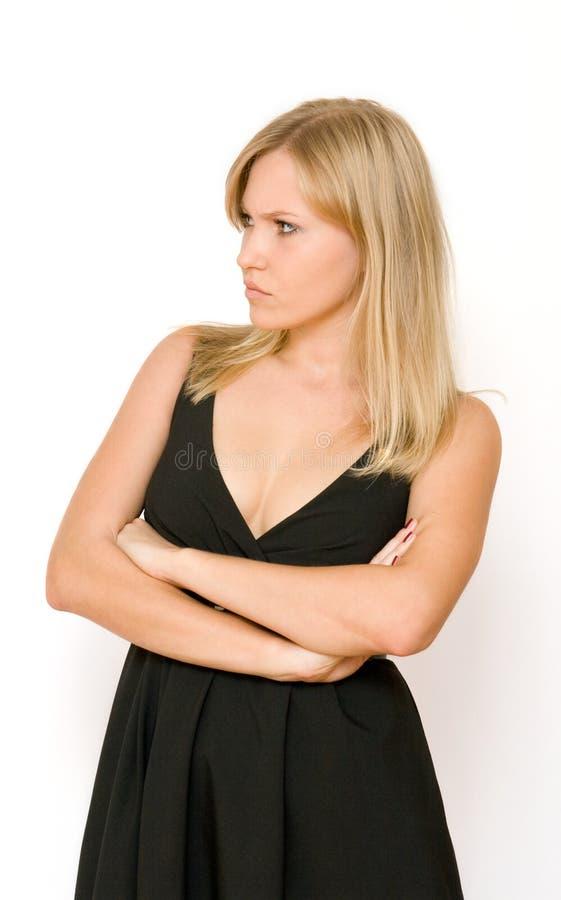 Download сердитые смотря женщины молодые Стоковое Фото - изображение насчитывающей выражение, изолировано: 6863220