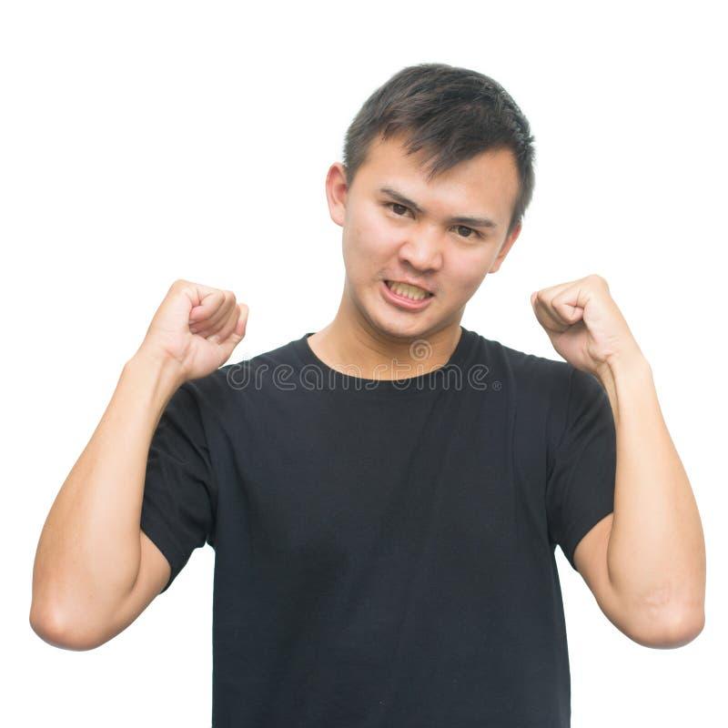 Сердитый азиатский гомосексуалист стоковые фото
