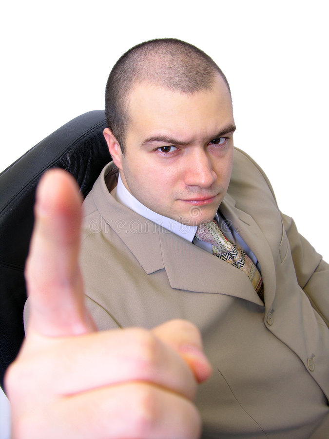 сердитый бизнесмен стоковое изображение