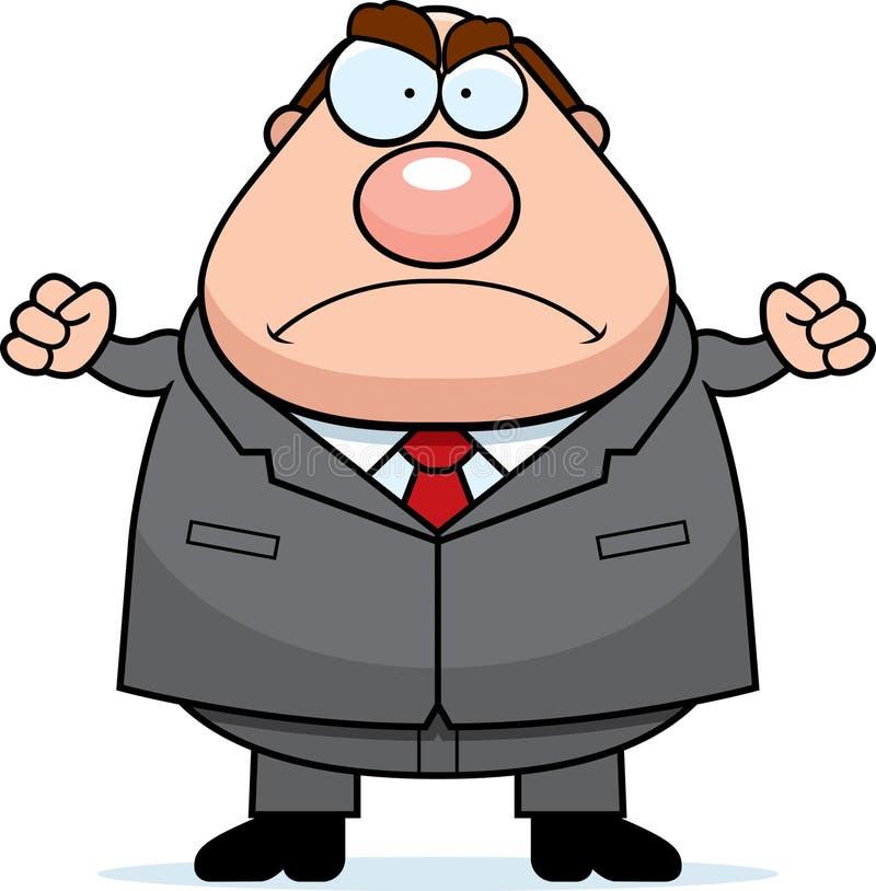 сердитый босс бесплатная иллюстрация