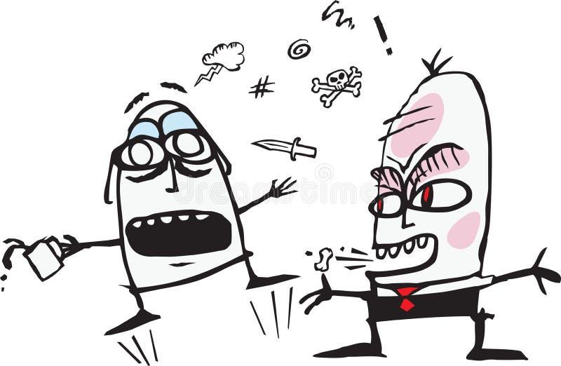 Сердитый босс иллюстрация вектора