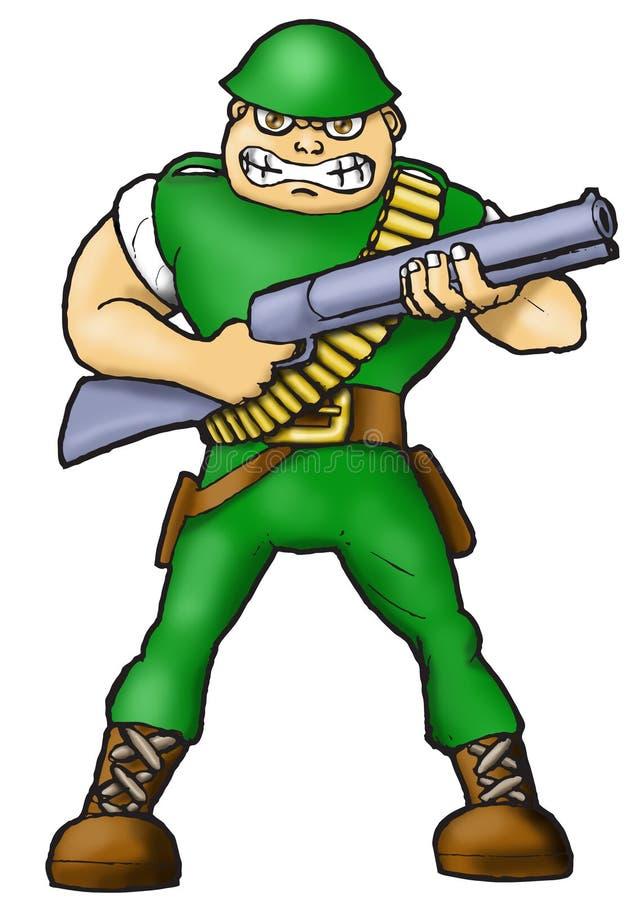 сердитый воин иллюстрация штока