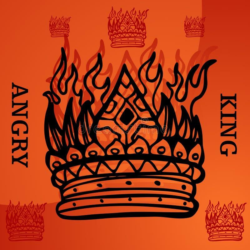 сердитый король бесплатная иллюстрация