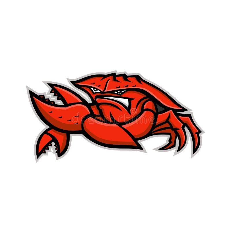 Сердитый красный талисман камчатского краба бесплатная иллюстрация