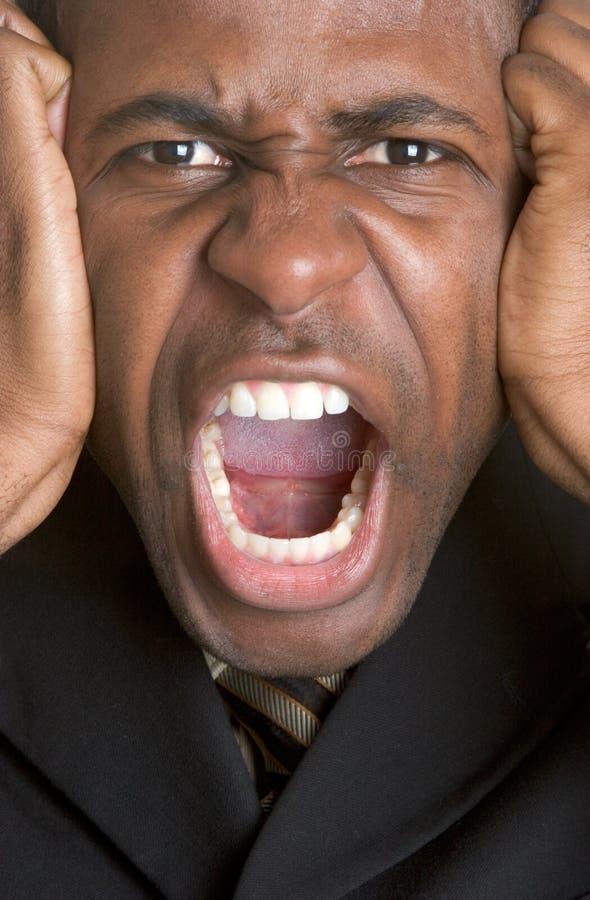 сердитый кричать человека стоковые изображения rf