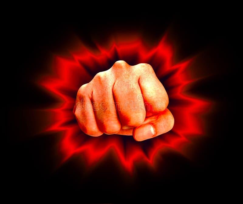 сердитый кулачок иллюстрация вектора