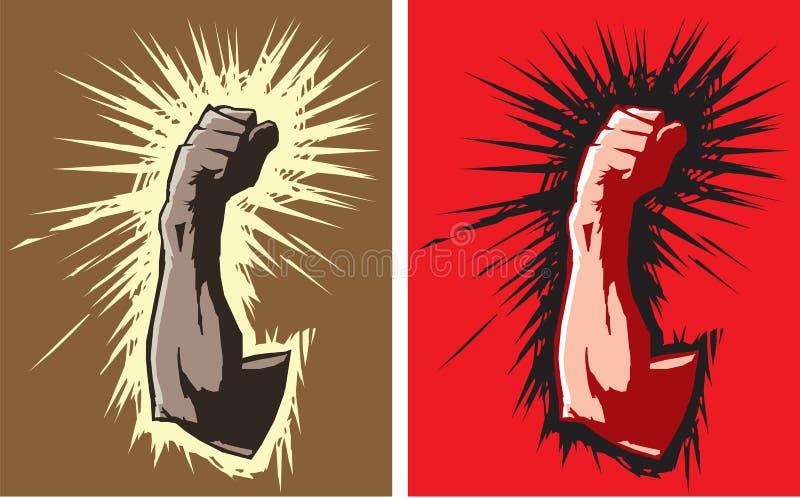 сердитый кулачок иллюстрация штока
