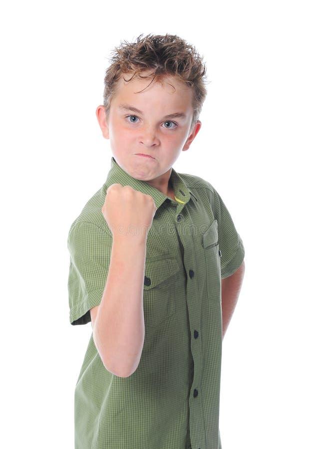 сердитый мальчик немногая стоковая фотография rf