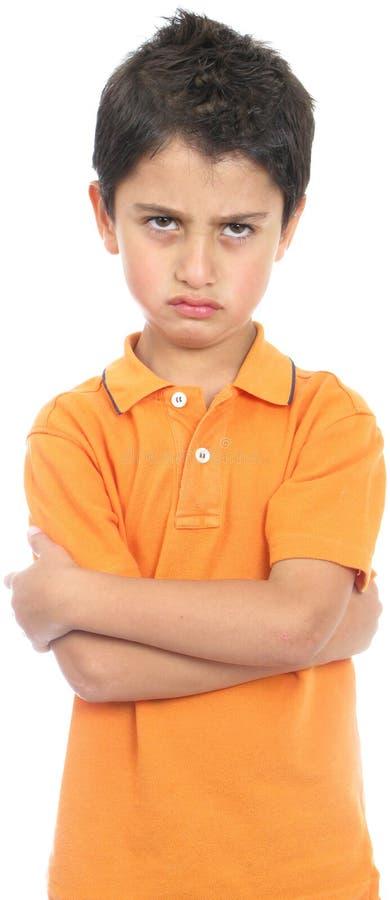 сердитый мальчик очень стоковые фото