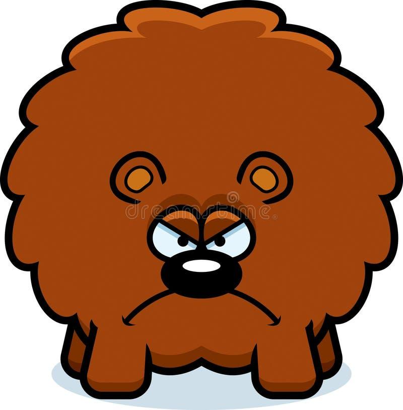 сердитый медведь шаржа иллюстрация штока