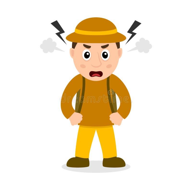 Сердитый персонаж из мультфильма археолога бесплатная иллюстрация
