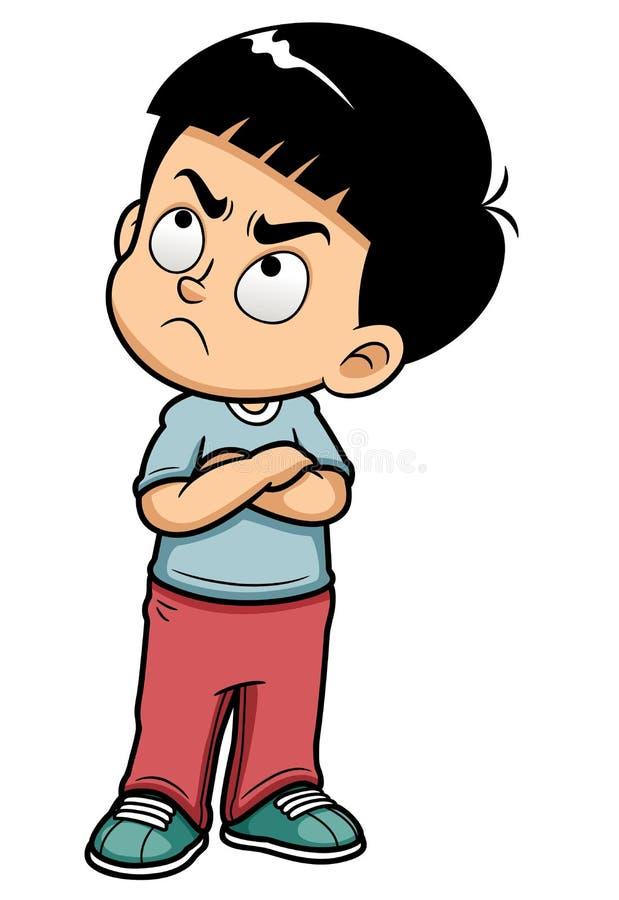 Сердитый подросток бесплатная иллюстрация
