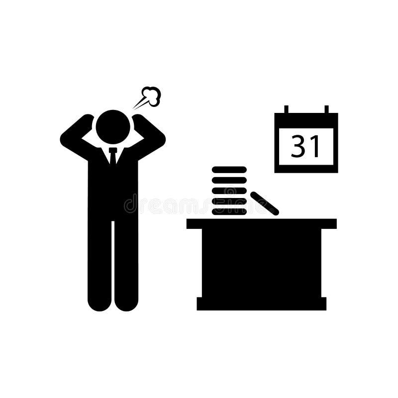 Сердитый, работа, нет, время, держа значок Элемент значка бизнесмена r r бесплатная иллюстрация