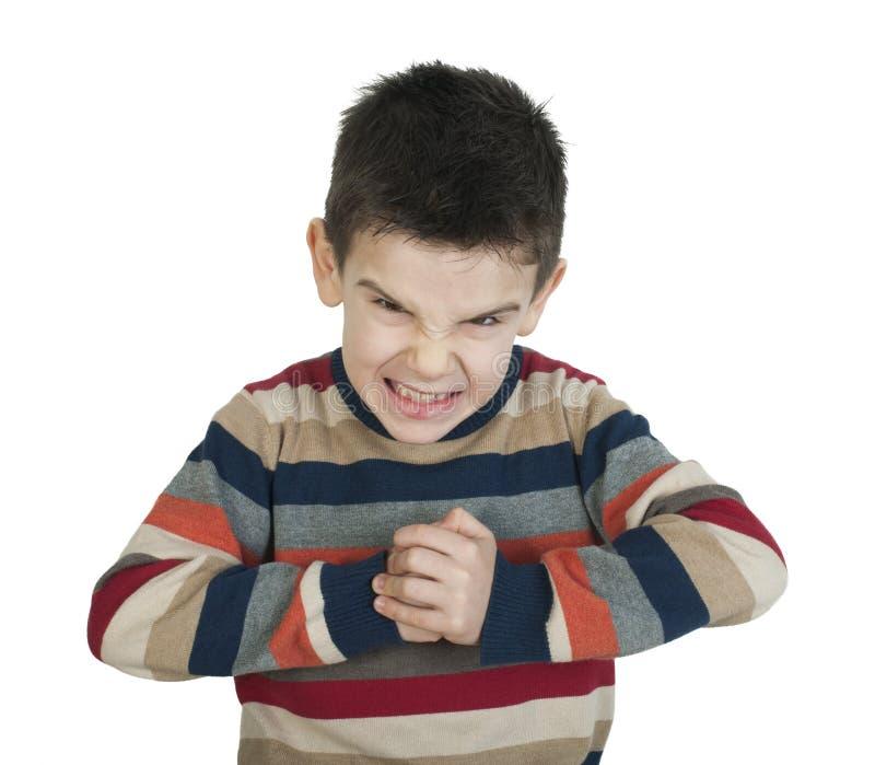 Сердитый ребенок стоковое фото