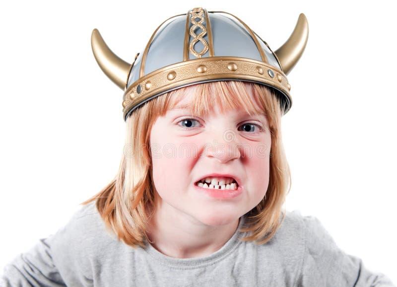 сердитый ребенок viking стоковая фотография rf