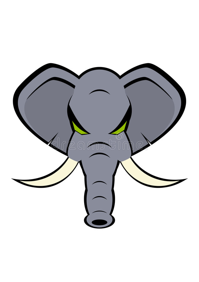 сердитый слон иллюстрация вектора