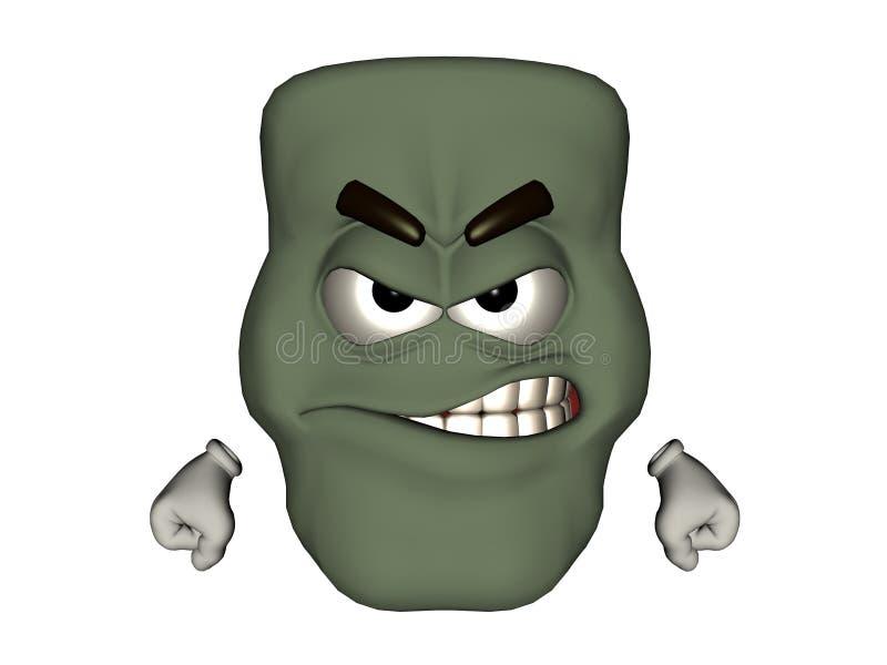 Сердитый смайлик изверга стоковые фото