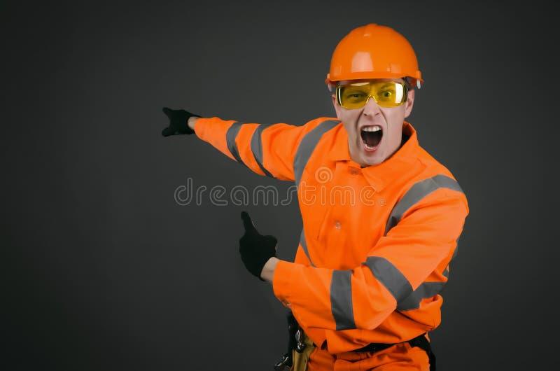 сердитый строитель стоковая фотография rf